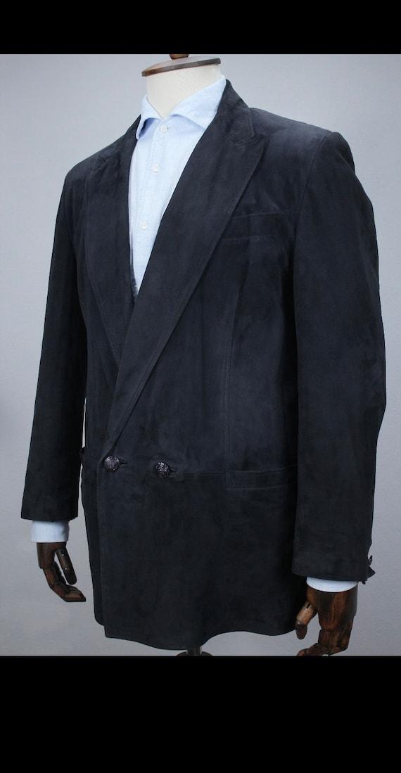 Vintage Original Gianni Versace Suede Leather Blaz