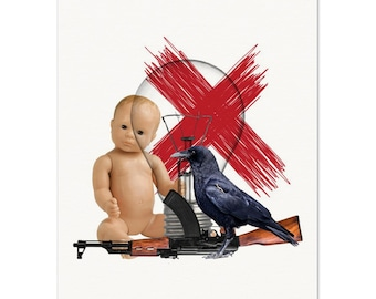 """The """"Crow and a Baby"""" Print"""