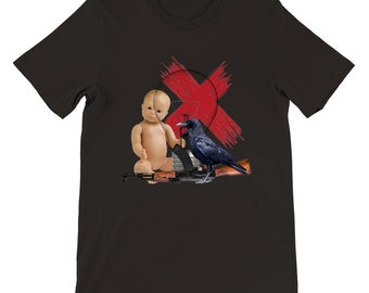 """The """"Crow and a Baby"""" Crewneck T-Shirt"""