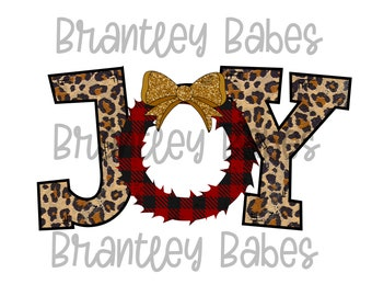 SUBLIMATION Transfer, Ready to Press, Leopard Christmas Joy