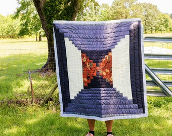 Gee's Bend Quilt, Quilt Block, Cotton Quilt, Wall Hanging, Wall Art, Tapestry Quilt, Tapestry, Wall Decor, Quilt