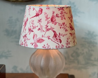 Hand made lampshade toile de jouy