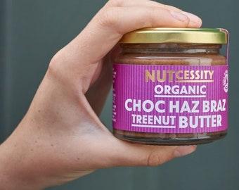 Organic Choc Haz Braz Nut Butter 180g