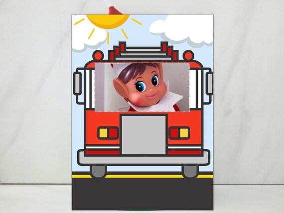Elf Fire Truck Prop Elf Fire Fighter Scene Printable