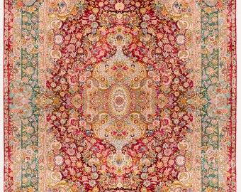 100% Silk Handwoven 6m Carpet