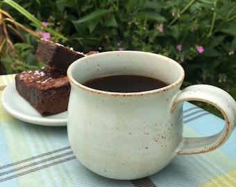 Handmade thrown ceramic mug