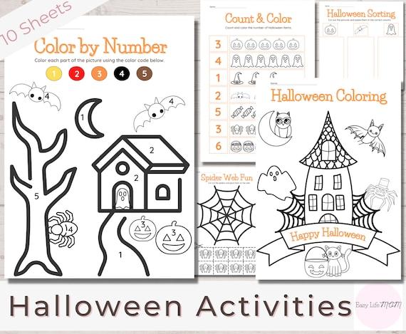 Halloween Activity Bundle Halloween Preschool Worksheets