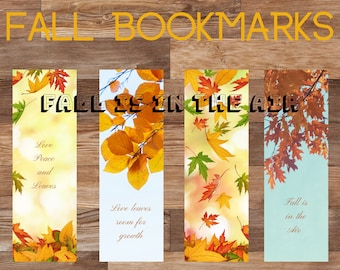 Fall Bookmarks - Fall is for Reading