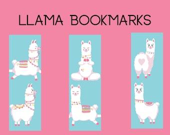 Llama Printable Bookmarks - Cute Page Holder