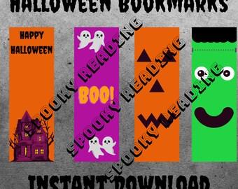 Halloween Spooky Bookmarks - Printable