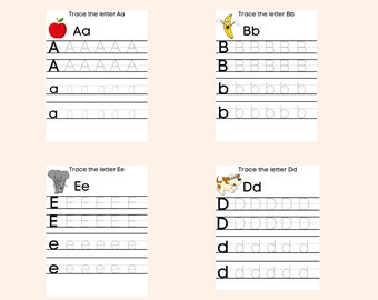 Letter Tracing Worksheet - ABC