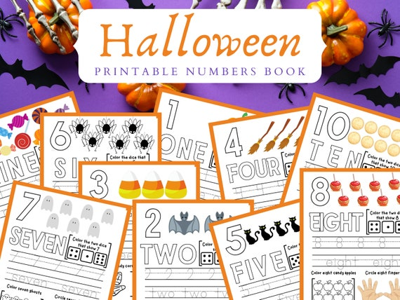 Halloween Busy Book Printable  Learning Numbers Worksheets