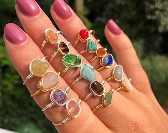 Rings with gemstone | Wire rings | Wire rings | Gemstones