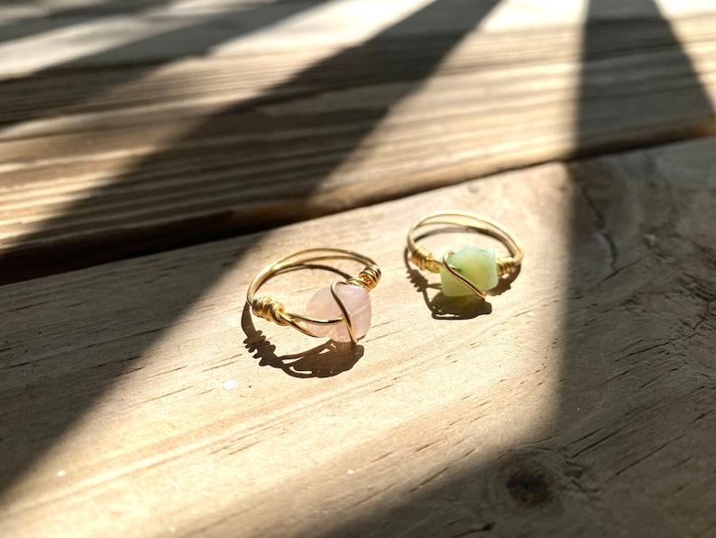 Crystals rings set