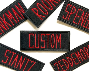 Ghostbusters Name Tag Uniform Custom Iron On or Velcro Patch
