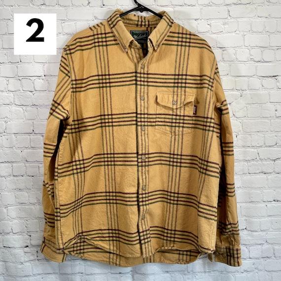 Vintage Flannel Shirts Heavy Cotton, Women's Flan… - image 4