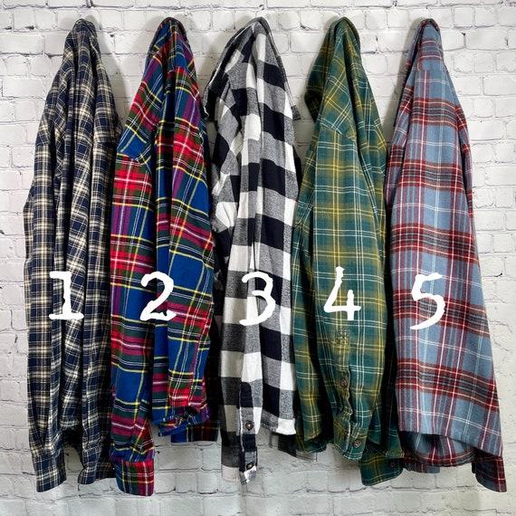 Vintage Flannel Shirts Size Medium, Women's Flann… - image 2