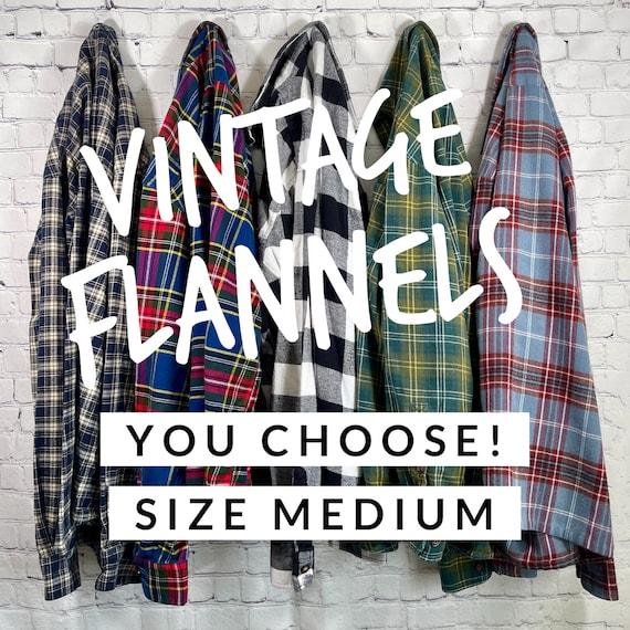 Vintage Flannel Shirts Size Medium, Women's Flann… - image 1