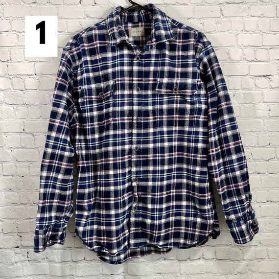 Vintage Flannel Shirts Heavy Cotton, Women's Flan… - image 3