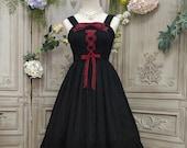 Black Lolita Dress, Fairy Dress, Black Dress, Princess Dress, Lolitafashion, Lace Lolita Dress, Kawaii Lolita Dress, Black Prom Dress