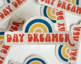 Day Dreamer / Retro Rainbow Waterproof Sticker for Water Bottle, Hydro Flask, Yeti, Laptop, Etc.