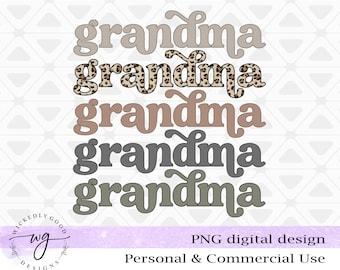 Grandma Png | Grandma Digital Download | Leopard Print PNG |  Commercial Use Sublimation PNG | Digital File for Sublimation | Shirt Download