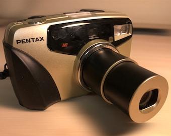 Pentax Espio 105G Vintage Film Camera With Case