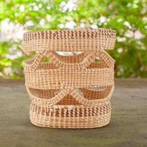Gullah Sweetgrass Handmade Vase, Planter