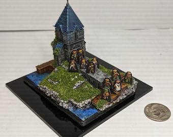 Orbonne Monastery Final Fantasy Tactics Diorama 5mm