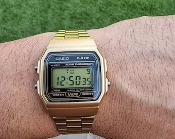 Retro Vintage Casio Digital Watch F91 Custom Modification