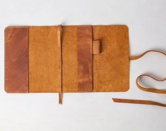 Simple notebook cover, Moleskine cover, Hobonichi Techo, Personalized Refillable Journal, Personalized Leather Notebook Cover, Travel Journa