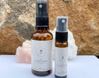 Hand Sanitiser | Essential oil | Aloe Vera | Vitamin E | Lemon Myrtle | Rose Geranium | Lemon Eucalyptus | Glass amber | Gift | Moisturising