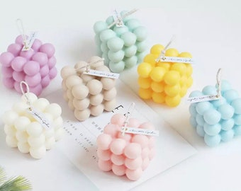 Bubble Cube Candles, decorative candles, scented candles