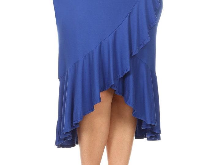 Plus Size Faux Wrap Skirt