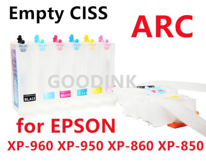 Empty, Dye, Sublimation, Pigment Refillable CIS CISS Ink System  for Epson Photo XP-960 Xp-950 Xp-860 Xp-850 Printer T277 277 ink cartridge