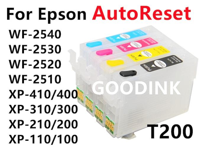 Empty  Dye Pigment Sublimation Ink Refillable Ink Cartridge kit for Epson wf-2540 wf-2530 wf-2520 wf-2510 xp-410 xp-400 xp-310 xp-300 xp-210