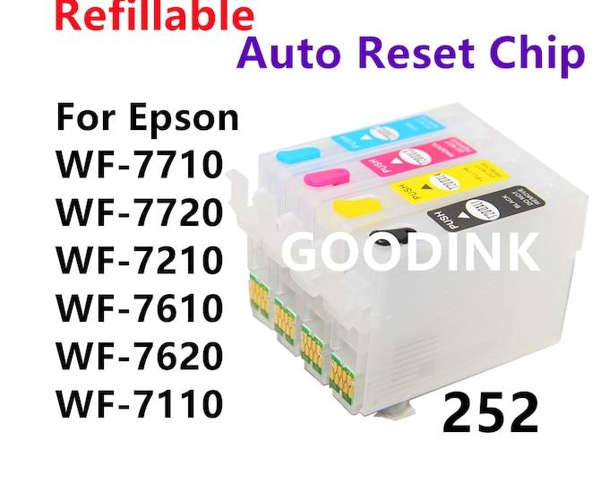 Empty  Dye Pigment Sublimation Ink Refillable Ink Cartridge kit for Epson wf-7710 wf-7720 wf-7210 wf-7610 wf-7620 wf-7110 wf-3640 wf-3620