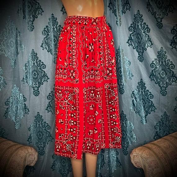 1960's Vintage corduroy velvet western skirt - image 2