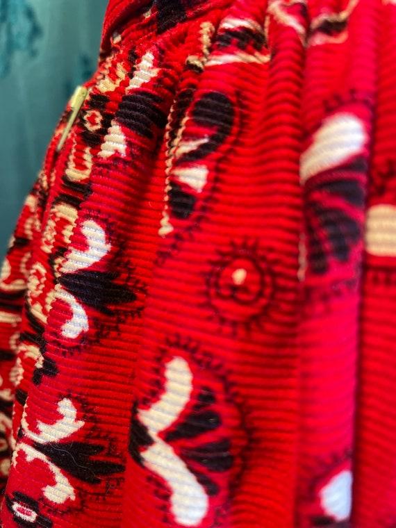 1960's Vintage corduroy velvet western skirt - image 4