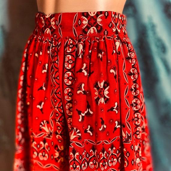 1960's Vintage corduroy velvet western skirt - image 6