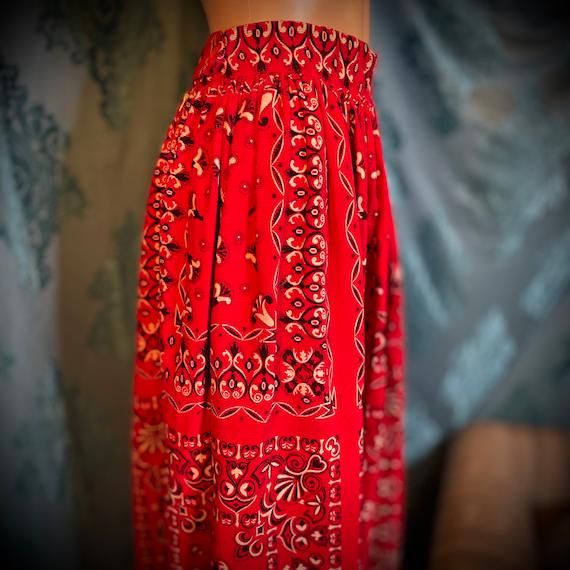 1960's Vintage corduroy velvet western skirt - image 3