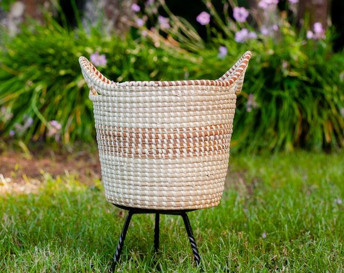 Sweetgrass Double Handle Storage Basket