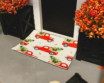Dollhouse Layering Doormat for 1:12 Miniatures   Doormat Layer for Dollhouses   Christmas Truck