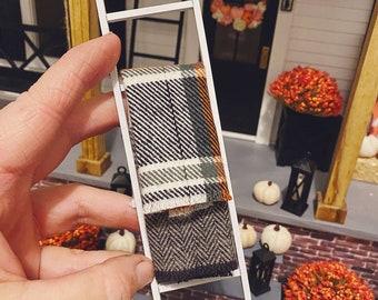 Dollhouse Blanket Ladder for 1:12 Miniatures   Miniature Blanket for Autumn White Ladder