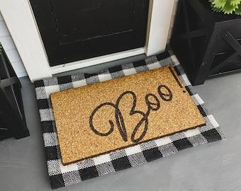 Dollhouse Doormat for 1:12 Miniatures   Halloween Doormat Boo