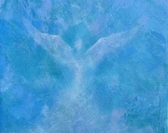 Angel Painting, Angel Art, Original Oil, Religious Art, Inspirational Art, Angel Artwork, In Memory Of, Spiritual Art