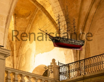 Boat in French church