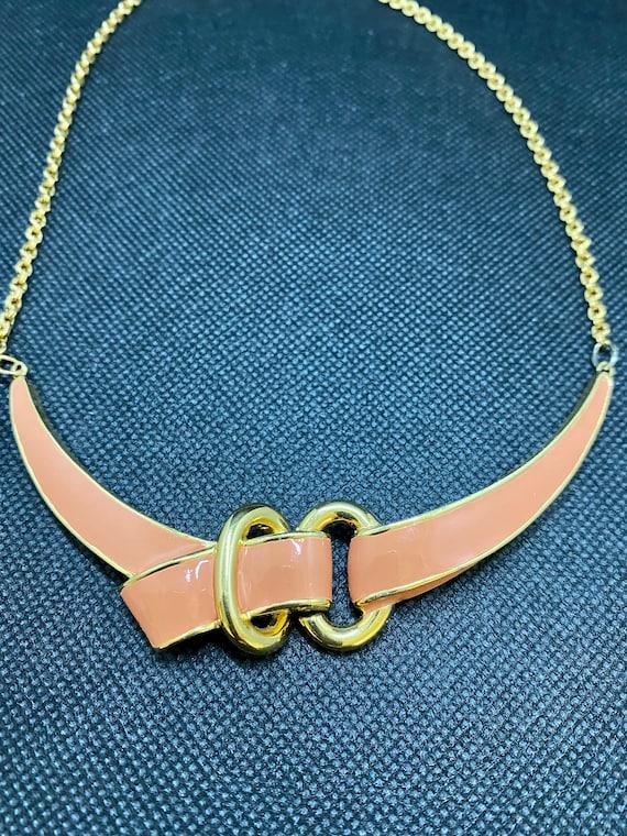 Vintage Jomaz Enamel Necklace