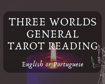Three Worlds General Tarot Reading with Hekate's Guidance (in English or Portuguese) - Hecate, Divination, Hekatean Witchcraft, Tarô