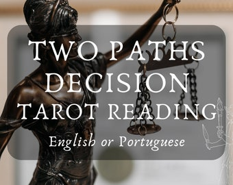 Two Paths Decision Tarot Reading with Hekate's Guidance (in English or Portuguese) - Hecate, Divination, Hekatean, Crossroads, Options, Tarô